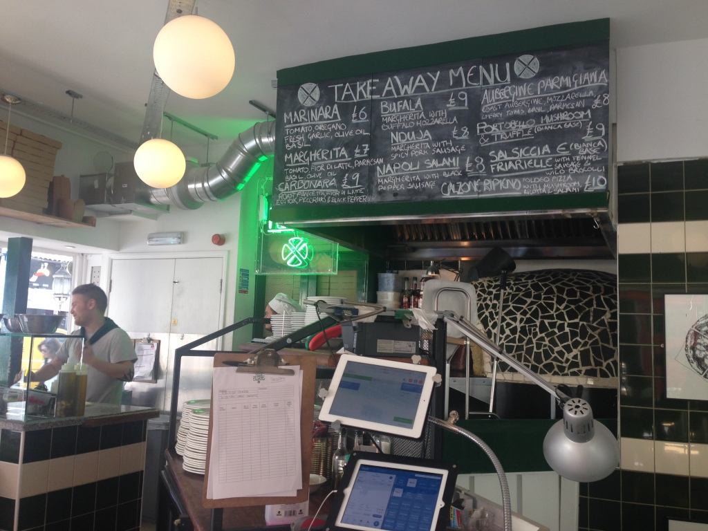 The interior and their great takeaway menu